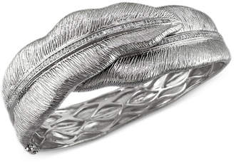 Effy Balissima by Diamond Leaf Bangle Bracelet in Sterling Silver (1/2 ct. t.w.)
