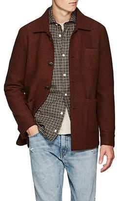 Eleventy Men's Boiled Wool Shirt Jacket