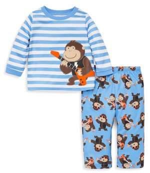 Little Me Little Boy's Two-Piece Gorilla Rockstar Pajama Set