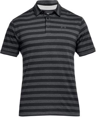 Under Armour Men's Charged Cotton Scramble Striped Golf Polo