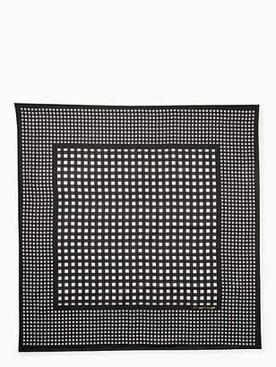 Kate Spade Gingham silk square scarf