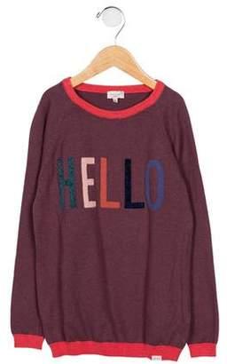 Paul Smith Girls' Intarsia Crew Neck Sweater
