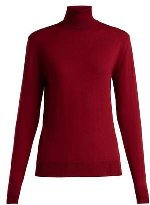 Raf Simons - Roll Neck Merino Wool Blend Sweater - Womens - Dark Red