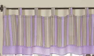 JoJo Designs Window Valance for Purple and Brown Mod Dots Bedding Sets by Sweet