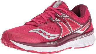 Saucony Women's Triumph ISO 3 Running Shoes, Pink/Berry/Citron