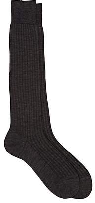 Barneys New York Men's Rib-Knit Wool-Blend Knee Socks
