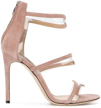 Sergio Rossi suede stiletto heel sandals