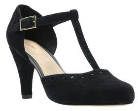 Next Womens Clarks Black Dalia Leah T-Bar Heel