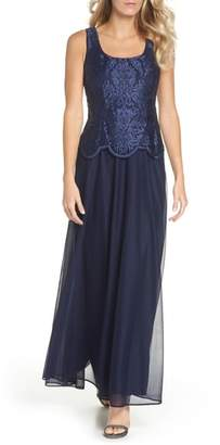 Alex Evenings Embroidered Gown & Jacket
