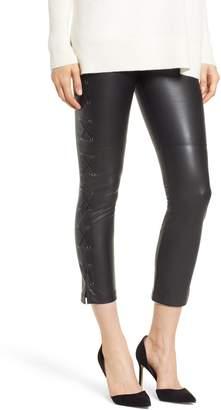 David Lerner Gemma Lace-Up Side Faux Leather Leggings