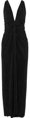 Alexandre Vauthier Twisted Crystal-embellished Crepe Gown - Black