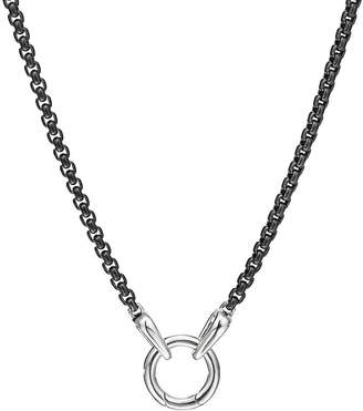 "David Yurman Sterling Silver & Darkened Stainless Steel Chain Necklace, 20"""