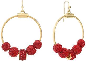 Liz Claiborne Red 55mm Hoop Earrings