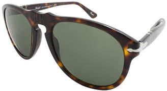Asstd National Brand Persol Sunglasses Po0649 / Frame: Tortoise Lens: Gray