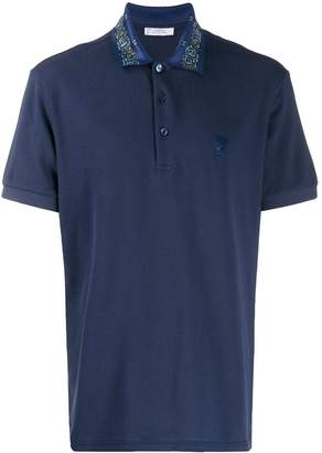 Versace Medusa Head patch polo shirt