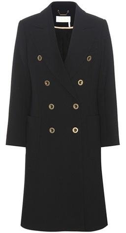 Chloé Chloé Wool-crêpe Coat