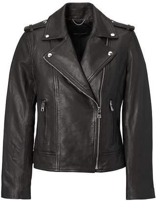 Banana Republic Classic Leather Moto Jacket