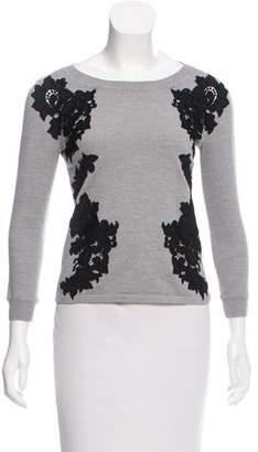 Diane von Furstenberg Doreen Floral Embroidered Sweater