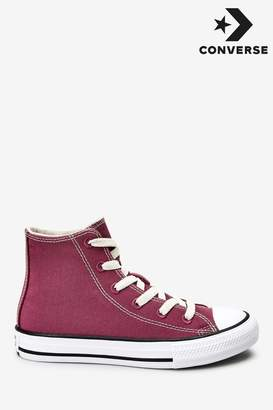 Converse Boys Youth Renew High Chuck Ox Trainers - Pink
