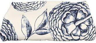 "E By Design Simply Daisy 28"" x 58"" Antique Flowers Floral Print Bath Towel"