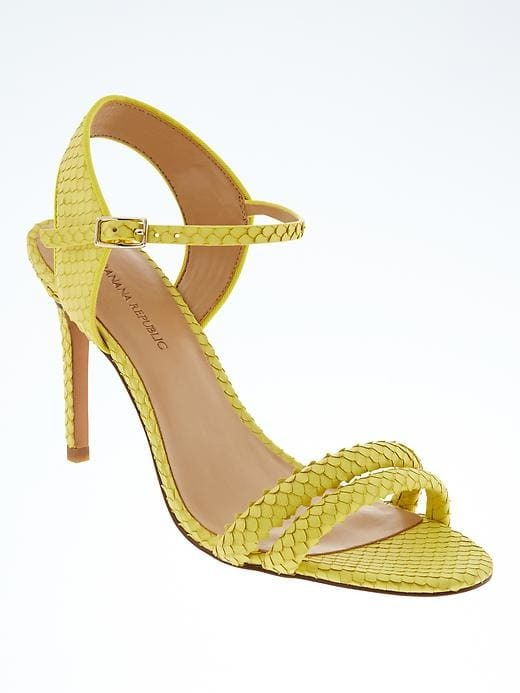 Double Strap High Heel Sandal