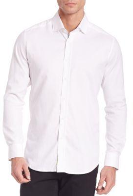 Robert Graham Baylor Textured Button-Down Shirt $148 thestylecure.com