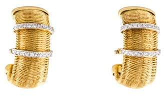Roberto Coin Diamond Weave Earclips