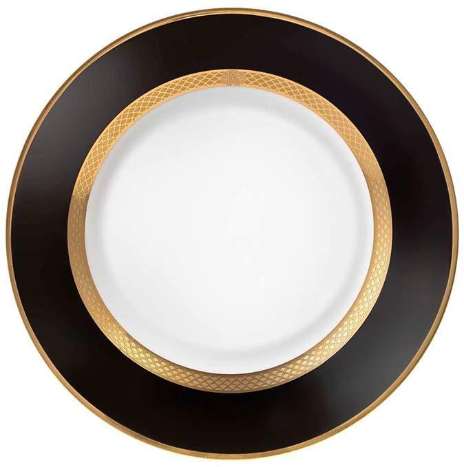Roberto Cavalli Home Python Black Soup Plate (22cm)