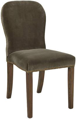 OKA Stafford Velvet Dining Chair - Truffle