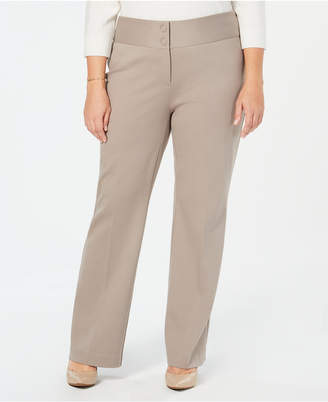 abd81374847 Alfani Plus Size Wide-Leg Tummy-Control Pants