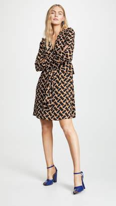 f2de78eb901857 Diane von Furstenberg Brown V Neck Dresses - ShopStyle