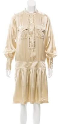 Barbara Bui Silk Embellished Dress