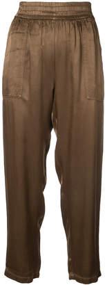 Raquel Allegra Trapunto cropped trousers