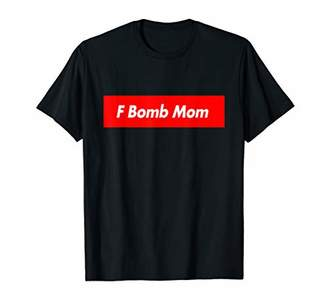 F Bomb Mom - Red Box Parody Logo Meme Funny T-Shirt