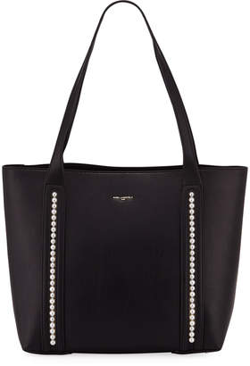 Karl Lagerfeld Paris Finoola PVC Pearly Trim Tote Bag
