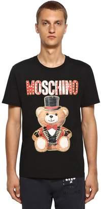 Moschino Printed Glitter Teddy Cotton T-Shirt