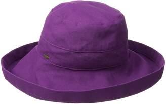 Scala Women's Cotton Big Brim Hat with Inner Drawstring