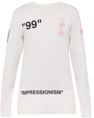 Off-White Off White Impressionism Print Long Sleeved T Shirt - Mens - White