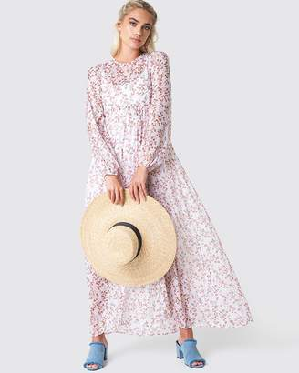 at THE ICONIC NA-KD Balloon Sleeve Maxi Dress 08851a47d6