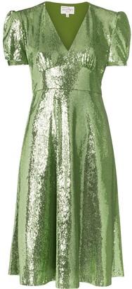 HVN Paula sequin-embellished dress