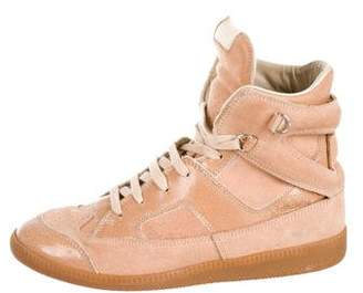 Maison Margiela Leather & Suede High-Top Sneakers