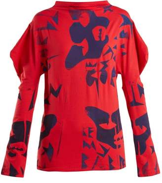 Matty Bovan - Paint Print T Shirt - Womens - Red Multi