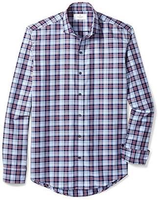 Buttoned Down Amazon Brand Men's Slim Fit Cutaway-Collar Supima Cotton Dress Casual Shirt