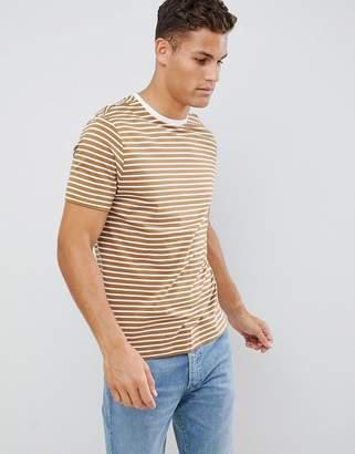 New Look stripe t-shirt in tan