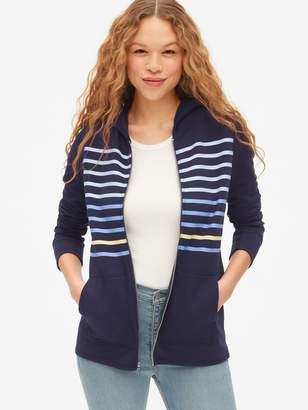 Gap Vintage Soft Stripe Zip Hoodie