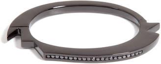 Lynn Ban Black Rhodium Bracelet 2 with Black Diamonds