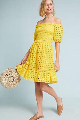 Donna Morgan Shelby Eyelet Petite Dress