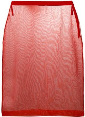 Miu Miu sheer mesh pencil skirt