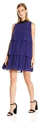 Just Cavalli Women's Solid Tiered Babydoll Dress