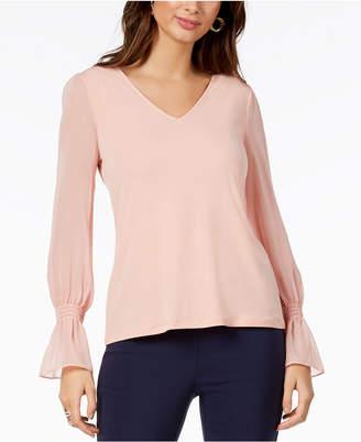 Thalia Sodi Chiffon-Sleeve Top, Created for Macy's